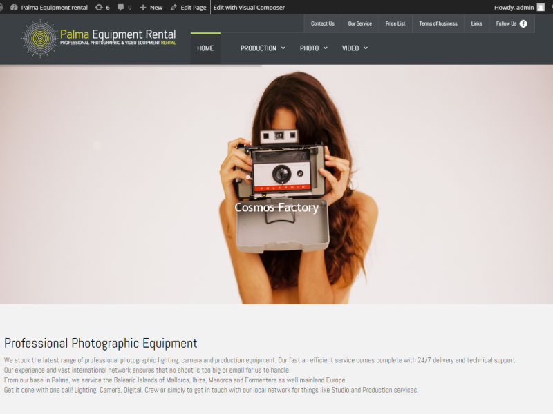 Palma-Equipment-rental-Professional-photographic-video-equipment-rental